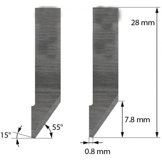 Blade Aoke-Kasemake compatible - Z42C - Max. cutting depth 7.8 mm