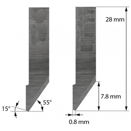 Blade Aoke-Kasemake compatible - Z42 - Max. cutting depth 7.8 mm