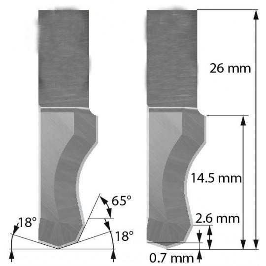Blade Aoke-Kasemake compatible - Z202 - Max cutting depth 14.5 mm