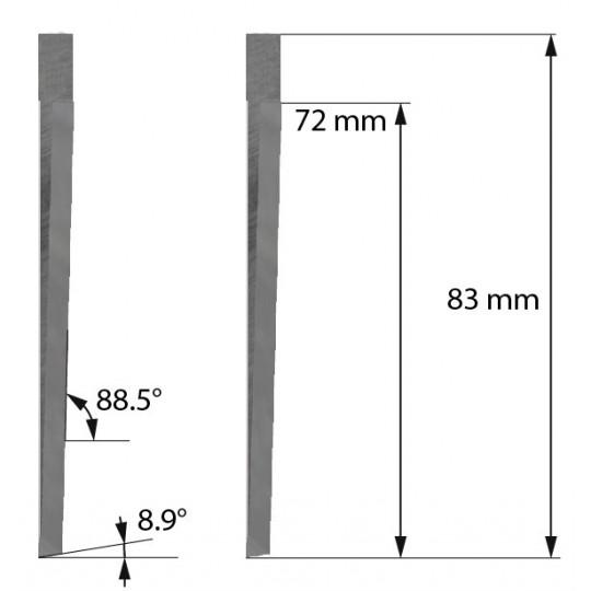 Blade Aoke-Kasemake compatible - Z605 - Max. cutting depth 71.5 mm