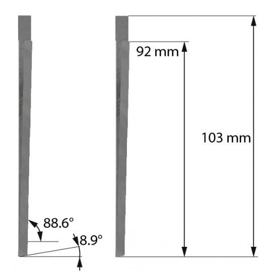 Blade Z603 Aoke-Kasemake compatible - Max. cutting depth 91.5 mm