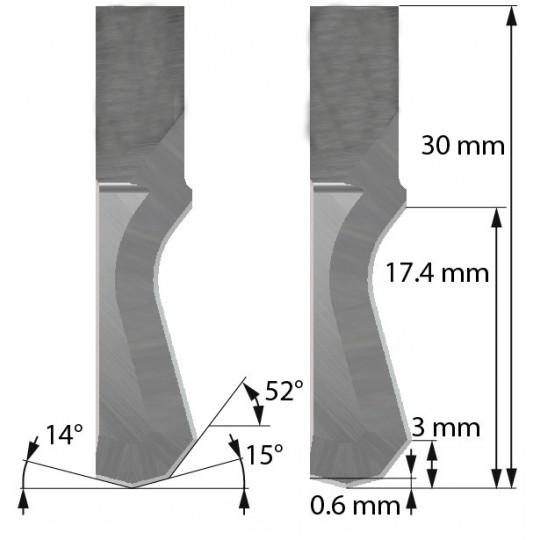 Blade Aoke-Kasemake compatible - Z201 - Max. cutting depth  16 mm