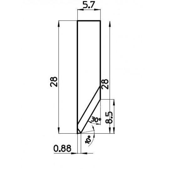 Blade C000511/1 - BNZ Technology compatible - Max. cutting depth 9 mm