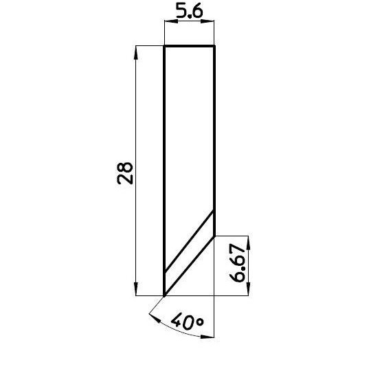 Blade C000509/1 - BNZ Technology compatible - Max. cutting depth 7 mm