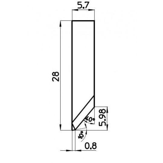 Blade C000507/1 - BNZ Technology compatible - Max. cutting depth 6 mm