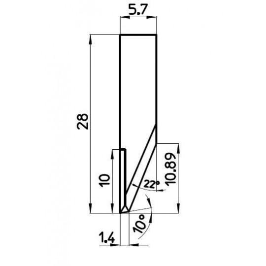 Blade C000507 - BNZ Technology compatible - Max. cutting depth 11 mm
