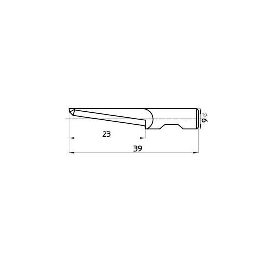 Blade 46387 Sumarai compatible - Max. cutting depth 23 mm - Blade thickness 0.6