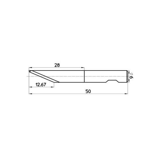 Blade 46990  Sumarai compatible - Max. cutting depth 13 mm