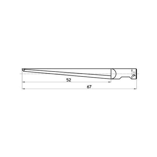 Blade 47077  Haase compatible - Max cutting depth 52 mm - Reference E85