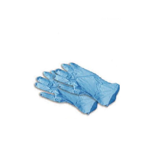Single-use gloves on nitrile