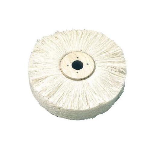 Brush white wool h 75 mm Ø 300 mm - 422.1577