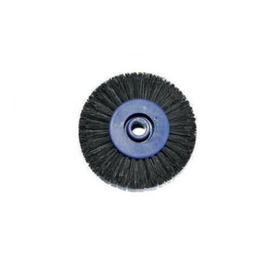 Little brush that converge on rigid nylon - Ø inside hole 0.8 mm Ø brush 80 mm