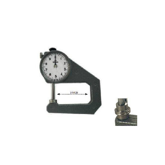 Tool to measure thickness flat - Max. dimension 20 mm - Depth 50 mm