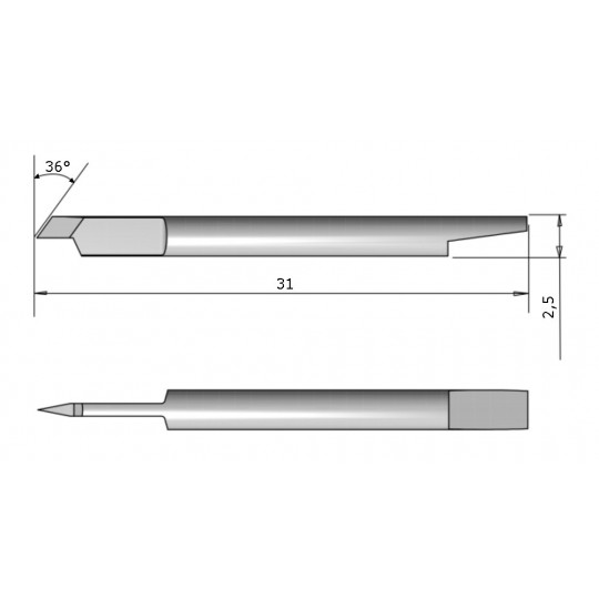 Blade CE 138023 - Max. cutting depth 0.25 mm