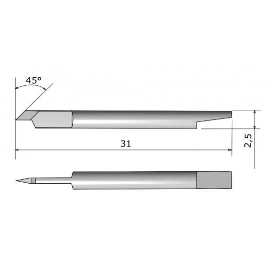 Blade CE138029 - Max. cutting depth 1 mm