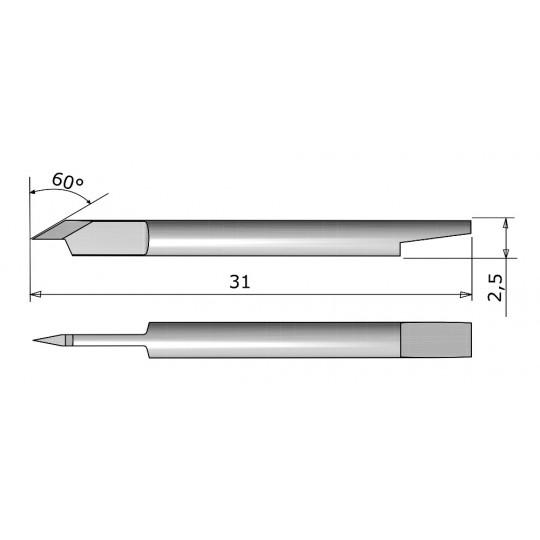 Blade CE 138031 - Max. cutting depth 1.2 mm