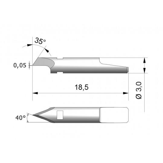 Blade CEW1 - Max. cutting depth 1 mm