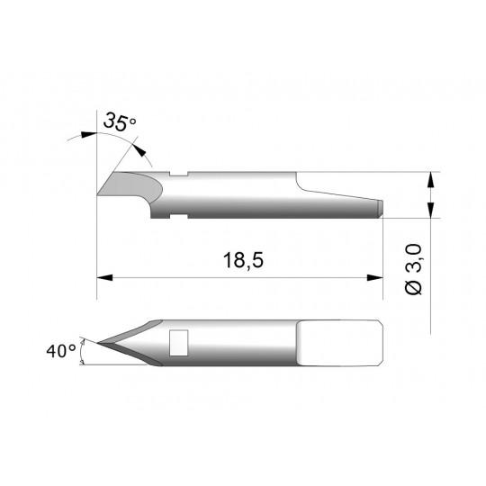 Blade CE1 - Max. cutting depth 1 mm