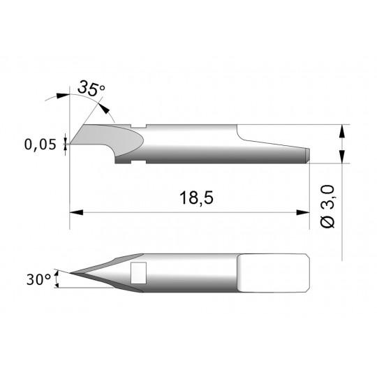Blade CEW2 - Max. cutting depth 1 mm