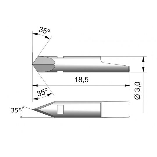 Blade CE3 - Max. cutting depth 1 mm
