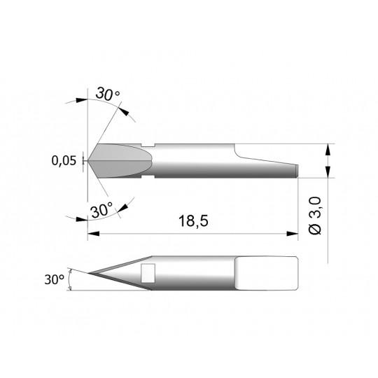 Blade CEW5 - Max. cutting depth 0.8 mm