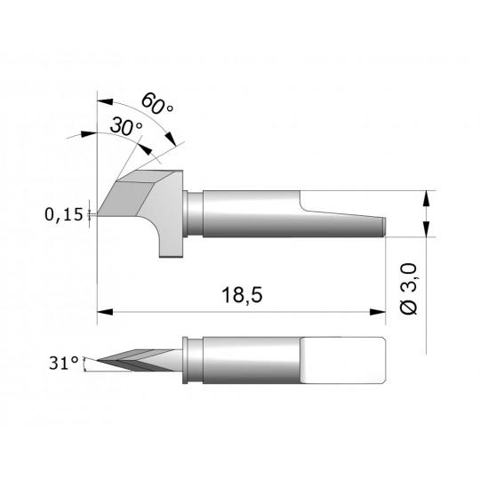 Blade CEW6 - Max. cutting depth 2.4 mm