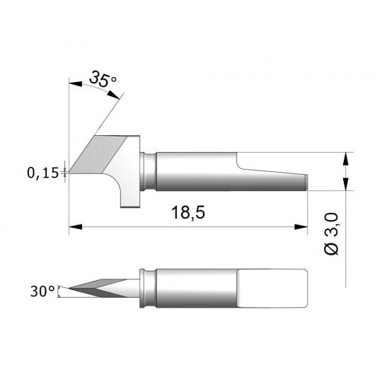 Blade CEW7 - Max. cutting depth 1.9 mm