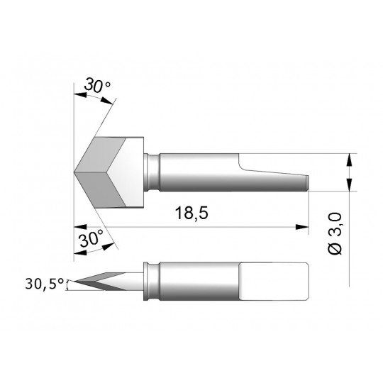 Blade CEW8 - Max. cutting depth 1.6 mm