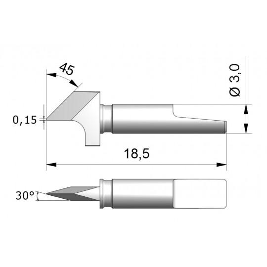Blade CEW9 - Max. cutting depth 2.8 mm