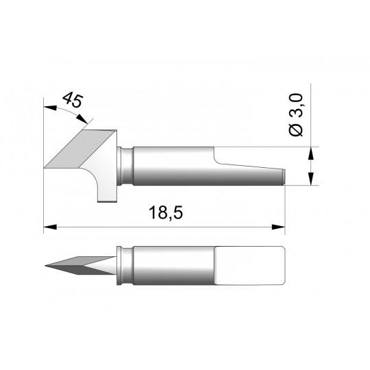 Blade CE9 - Max. cutting depth 2.8 mm