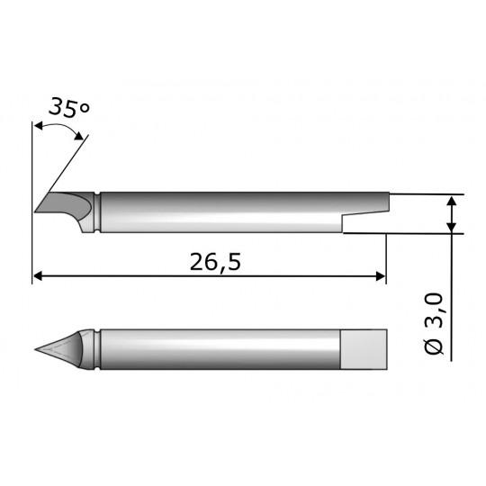 Blade CE7131 - Max. cutting depth 1 mm