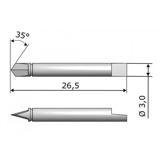 Blade CE7750 - Max. cutting depth 1 mm