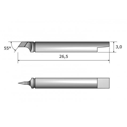 Blade CE7864 - Max. cutting depth 1 mm