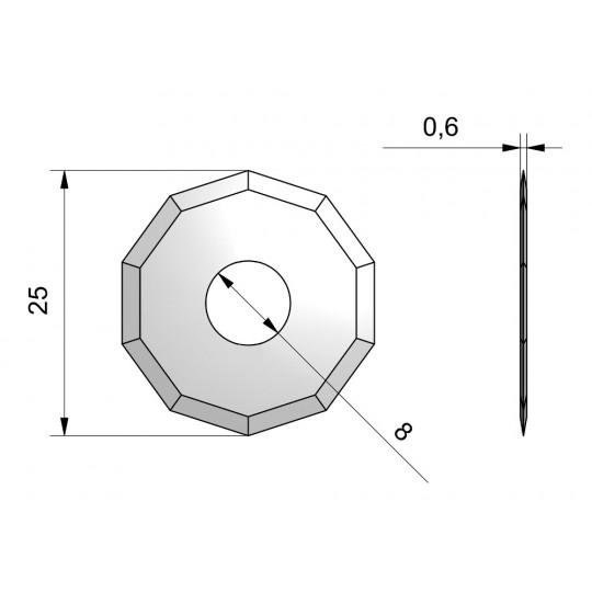 Blade CE50 - Ø 25 mm - Ø inside hole 8 mm