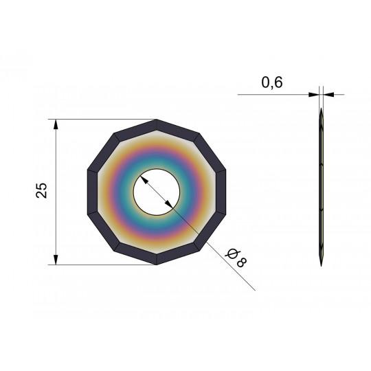 Blade CE50-B - Covered long life - Ø 25 mm - Ø inside hole 8 mm