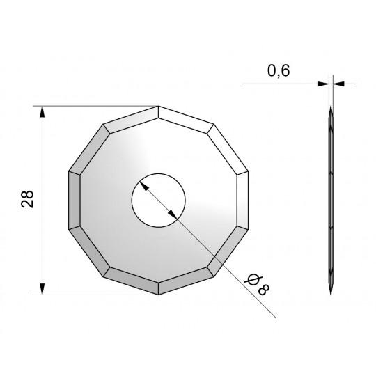 Blade CE51 - Ø 28 mm - Ø inside hole 8 mm