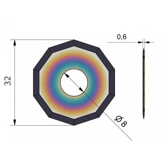 Blade CE52-B - Covered long life - Ø 32 mm - Ø inside hole 8 mm
