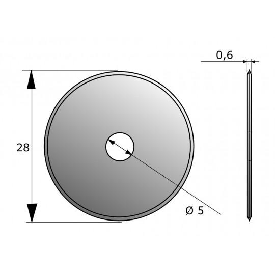 Blade CE55 - Ø 28 mm - Ø inside hole 5 mm