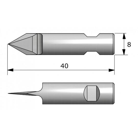 Blade CE8160 - Maxi. cutting depth 6.5 mm