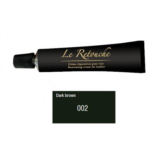 Retoucing cream for smooth leather - Package 25 ml - Color dark brown
