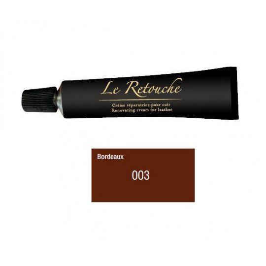 Retoucing cream for smooth leather - Package 25 ml - Color Bordeaux