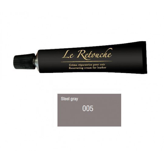 Retoucing cream for smooth leather - Package 25 ml - Color steel grey