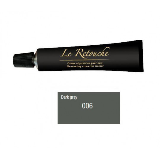 Retoucing cream for smooth leather - Package 25 ml - Color dark grey