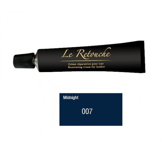 Retoucing cream for smooth leather - Package 25 ml - Color blue night