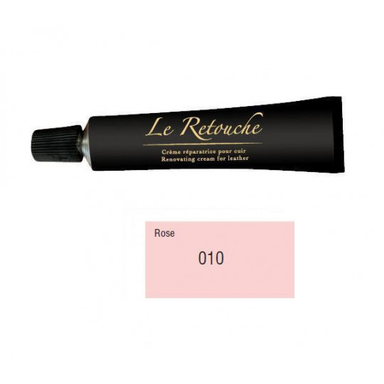 Retoucing cream for smooth leather - Package 25 ml - Color pink