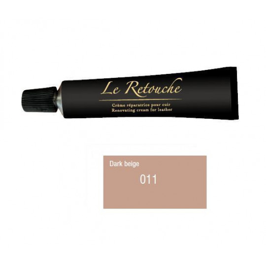 Retoucing cream for smooth leather - Package 25 ml - Color dark beige