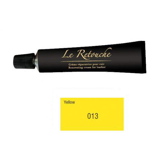 Retoucing cream for smooth leather - Package 25 ml - Color yellow