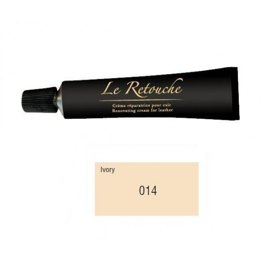 Retoucing cream for smooth leather - Package 25 ml - Color ivory