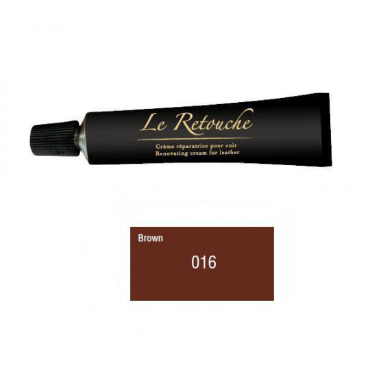 Retoucing cream for smooth leather - Package 25 ml - Color brown