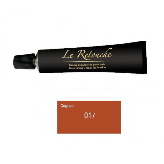 Retoucing cream for smooth leather - Package 25 ml - Color Cognac